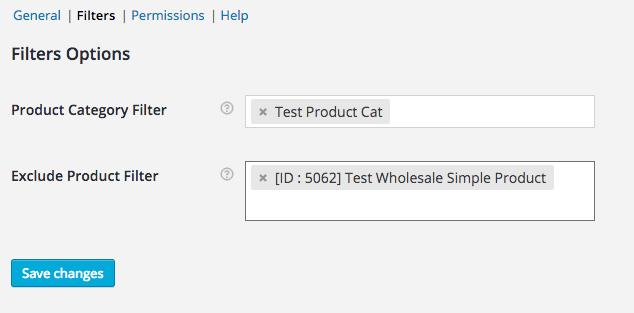 Order Form Filters