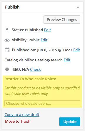 Restrict Wholesale Visibility