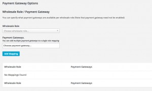 Restrict Wholesale Payment Gateways