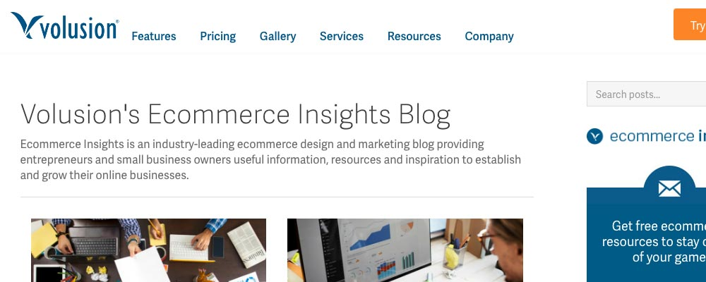 Volusion Ecommerce Insights marketing blogs