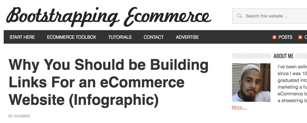 Bootstrapping Ecommerce marketing blogs