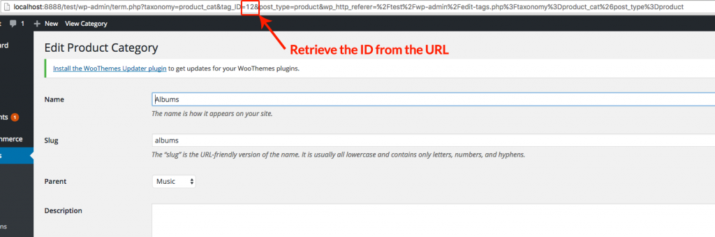 Retrieve Product Category ID From URL