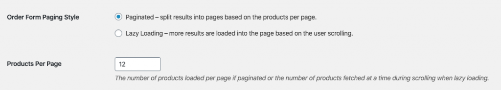WooCommerce Order Form Pagination Lazy Loading