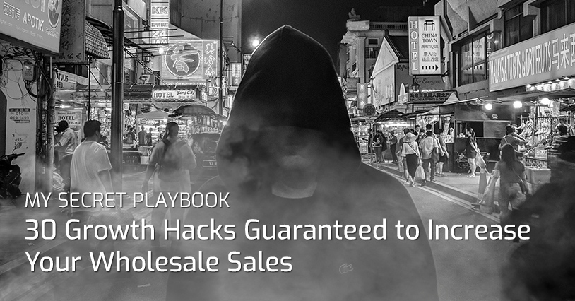 My Secret Playbook: 30 Growth Hacks Guaranteed to Increase Your Wholesale Sales