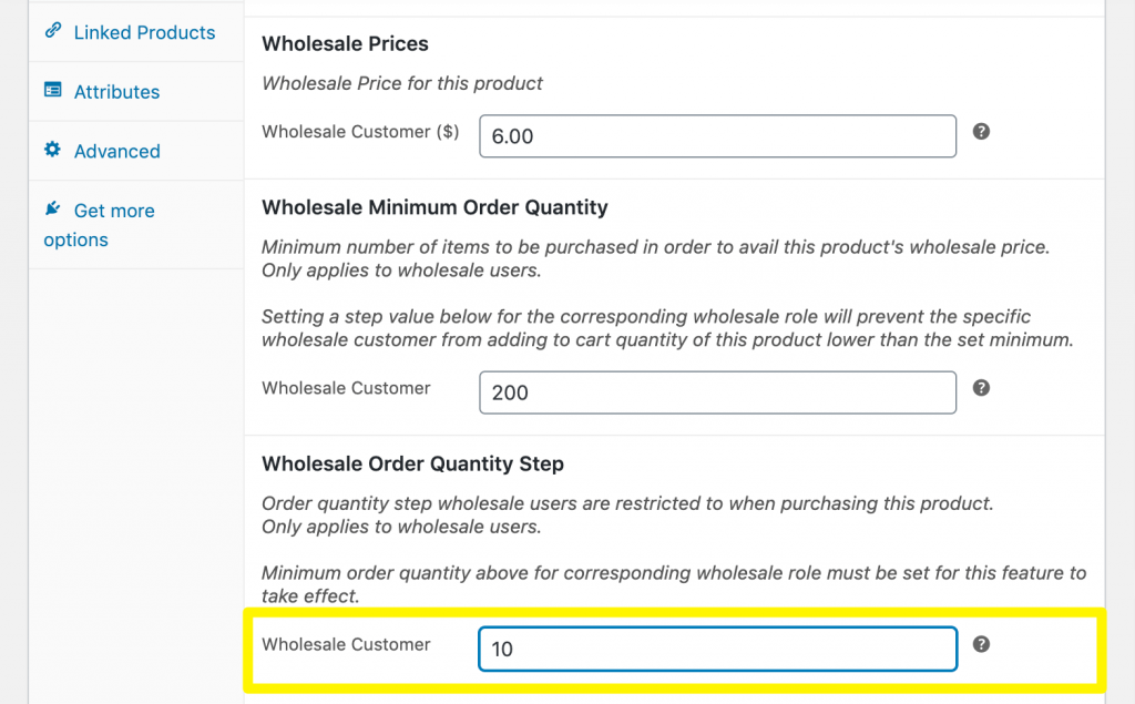 Adding product quantity steps in WooCommerce.