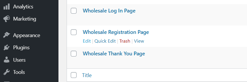 The pages the Lead Capture plugin sets up for you.