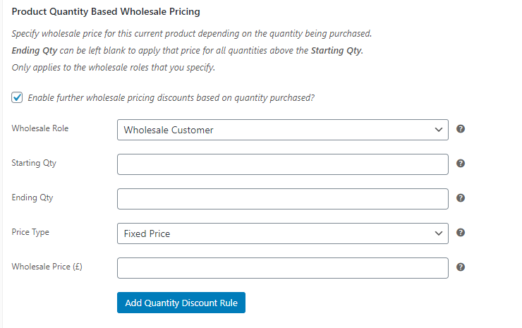 Creating discount rules for specific products.