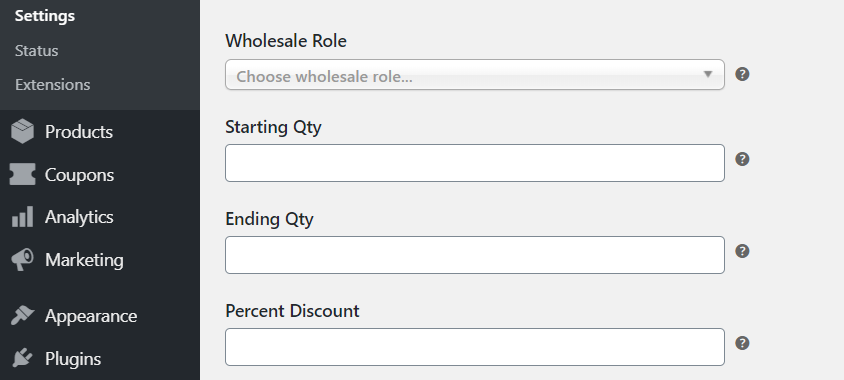 Configuring general discount pricing.