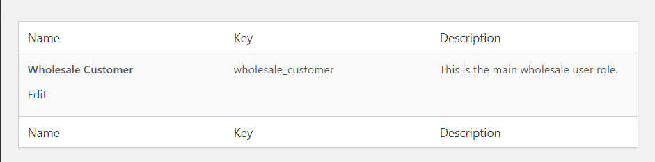 Editing an existing WooCommerce user role