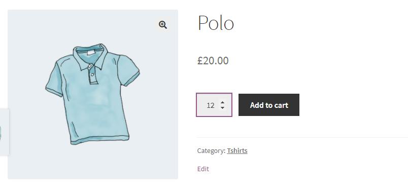 Buying twelve blue polo shirts.