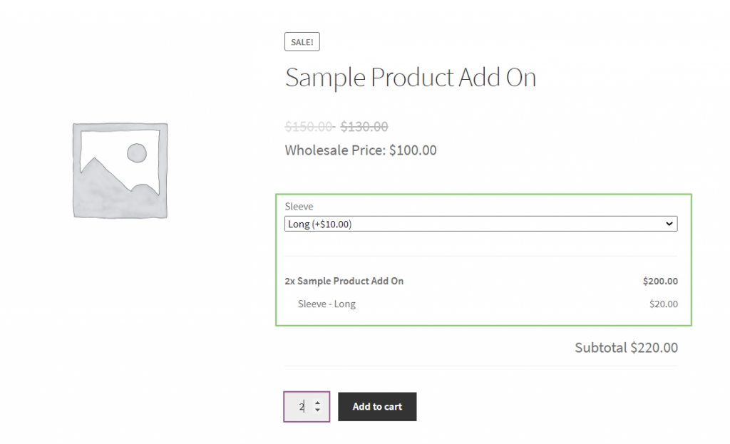 Add-ons exclusive for Wholesale Customer
