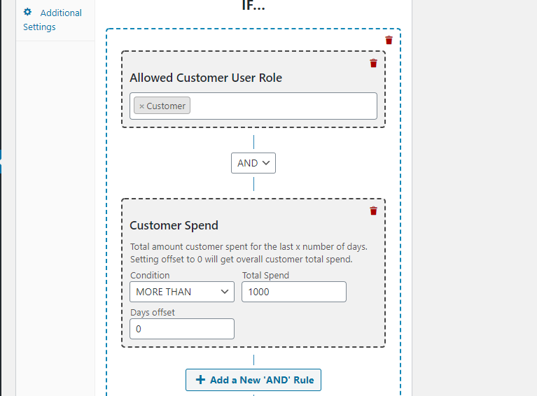 Creating a coupon for customers that spend over X amount