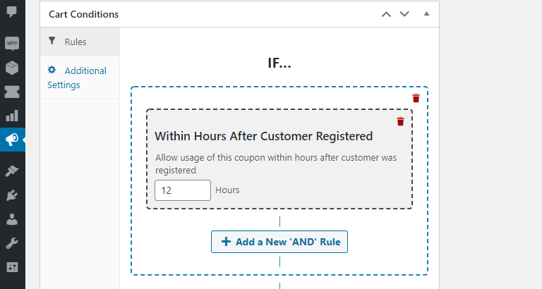 Creating a coupon for newly-registered users