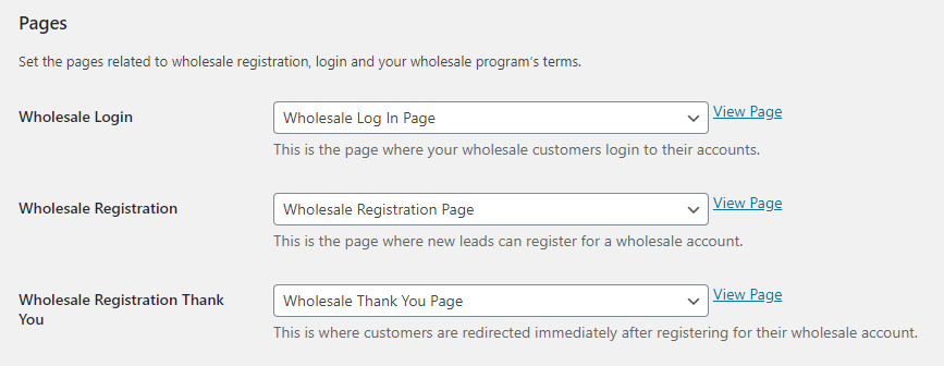 Customizing the wholesale customer registration process