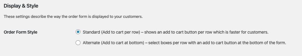 Wholesale order form online