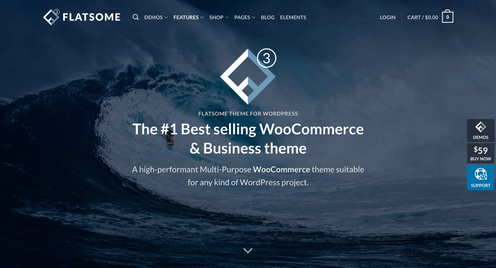 The Flatsome WordPress wholesale theme.