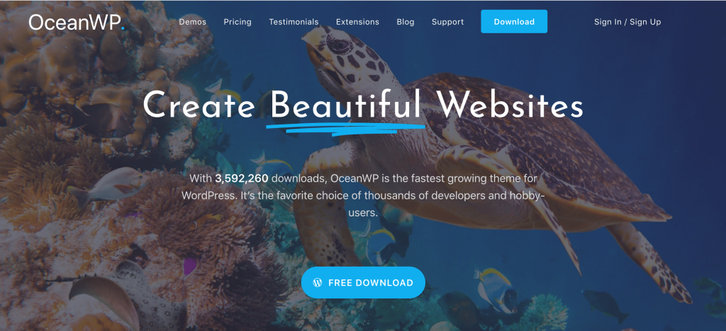 The OceanWP WordPress wholesale theme.