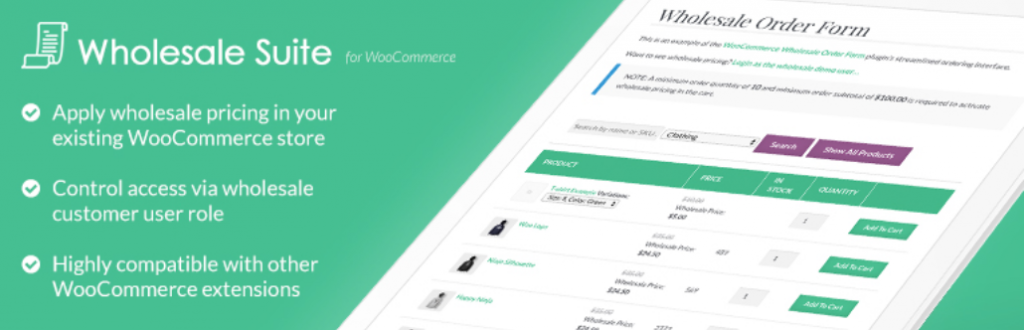 Wholesale Prices plugin